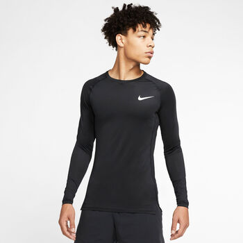 Nike Pro Langærmet T-shirt Herrer Sort