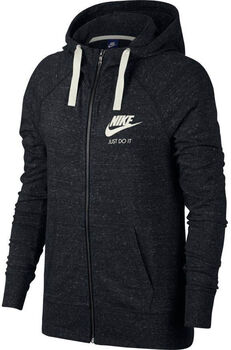 Nike NSW Gym Vintage Hoodie Fz Damer Sort