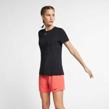 Nike Pro Mesh T-shirt Damer Sort
