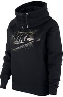 Sportswear Funnel Neck Metallic