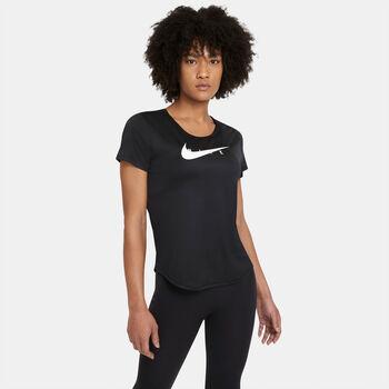 Nike Swoosh Run T-shirt Damer Sort