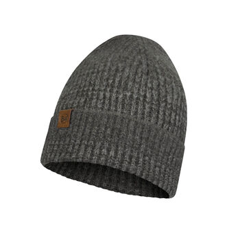 Buff Knitted Hat Leisure Grå