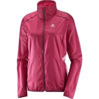 Salomon Agile Wind Jacket - Kvinder Rød