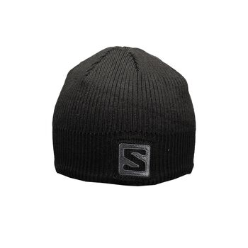 Salomon Logo Beanie Black Osfa Sort