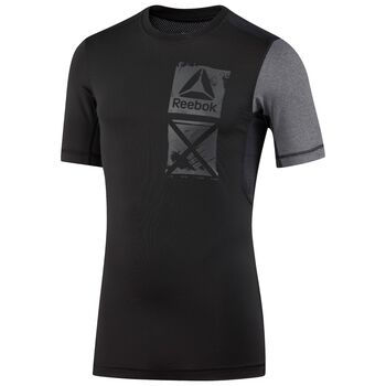 Reebok Activechill Graphic Comp Tee Herrer Sort