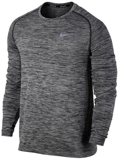 Nike Dri-FIT Knit Running Top LS - Mænd