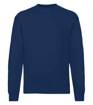 Fruit of the Loom Classic set in sweatshirt Blå