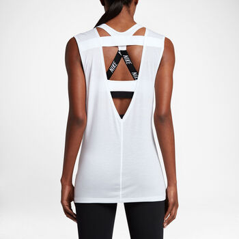 Nike Breathe Top SS Damer Hvid