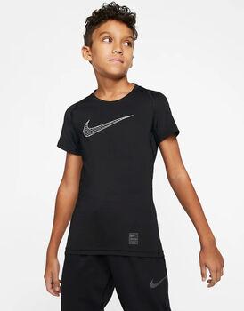 Nike Pro SS Top Drenge Sort