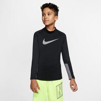 Nike Pro Therma Mock-Neck Træningstrøje Sort