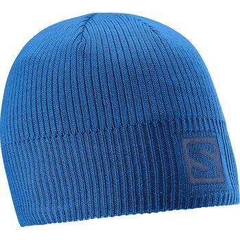 Salomon Logo Beanie Blue Yonder Osfa Blå