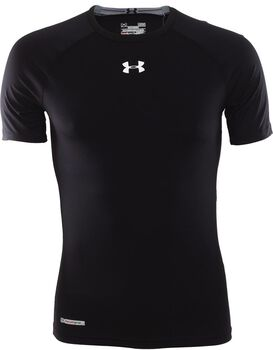 Under Armour Heat Gear Sonic Compression SS T Herrer Sort