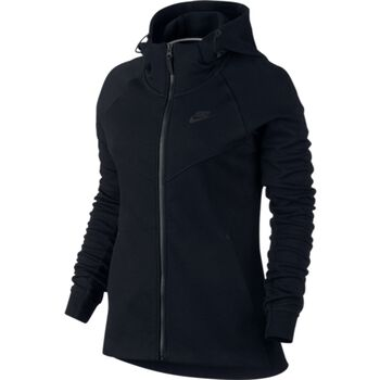 Nike Nsw Tech Fleece Hoodie Damer Sort