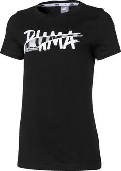 Puma Alpha Logo Short Sleeve Girls' Tee
