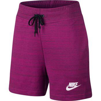 Nike NSW Short Knit Damer Lilla