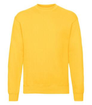 Fruit of the Loom Classic set in sweatshirt Herrer Gul