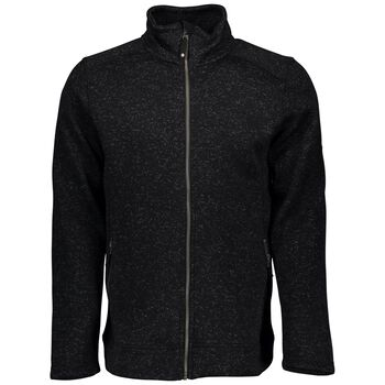 McKINLEY Rubin Knit Fleece Jacket Herrer Sort