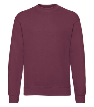 Fruit of the Loom Classic set in sweatshirt Rød