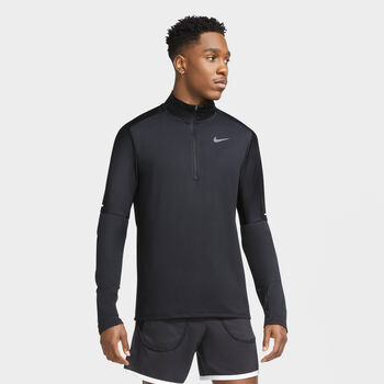 Nike Dri-FIT 1/2-zip løbetrøje Herrer Sort
