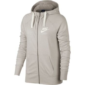 Nike Sportswear Gym Vintage Hoodie Fz Damer Gul