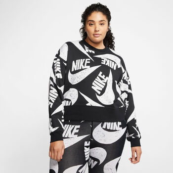 Nike Sportswear Fleece Trøje (Plus Size) Damer Sort