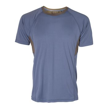 Les Deux Athletics Run T-Shirt Herrer Blå