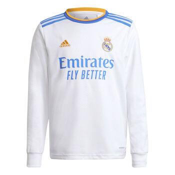 adidas Real Madrid 21/22 hjemmebanetrøje langærmet