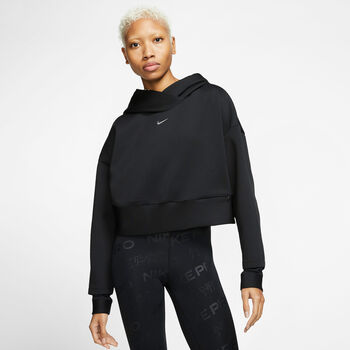 Nike Pro Fleece Hættetrøje Damer Sort