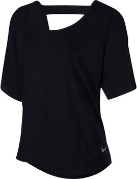 Nike Breathe Miler SS Top (Plus Size) Damer Sort