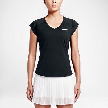 Nike Court Pure SS Tennis Tee Damer Sort