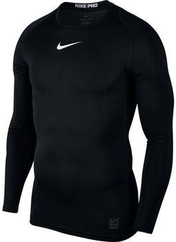 Nike Pro Top LS Compression Herrer Sort