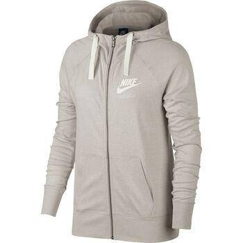 Nike NSW Gym Vintage Hoodie Fz Damer Gul