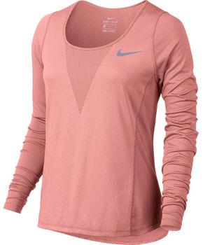 Nike Zonal Cooling Relay Top LS Damer Pink