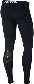 Nike Sportswear Metallic Leggings Damer Sort