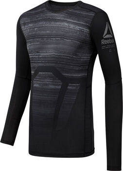 Reebok ActivChill Long Sleeve Compression Tee Herrer