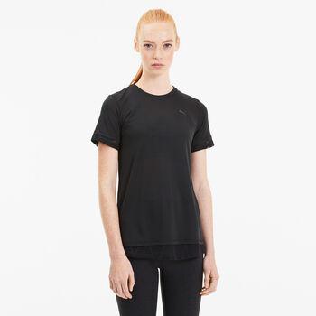 Puma Studion Mixed Lace T-shirt Damer Sort