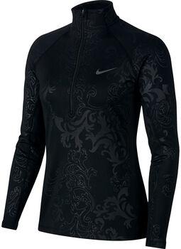 Nike Pro Warm Top LS HZ Royal Printed Damer