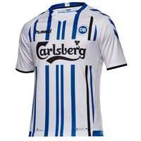Hummel Odense Boldklub Home SS Jersey 17-18 - Unisex Blå