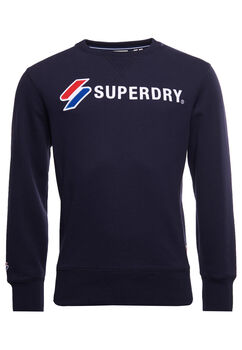 Superdry Sportstyle Applique sweatshirt Herrer