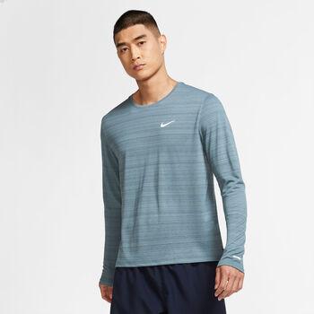 Nike Dri-FIT Miler - Langærmet Løbetrøje. Herrer