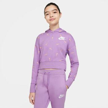 Nike Sportswear Cropped French Terry Hættetrøje Lilla