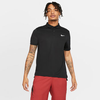 Nike Court Dri-FIT Polo Herrer Sort