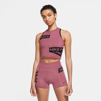Nike Performance Cropped Træningstop Damer Pink