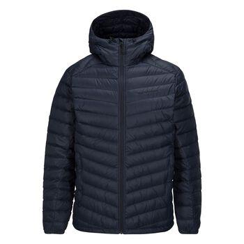 Peak Performance Frost Down Hooded Jacket Herrer Blå