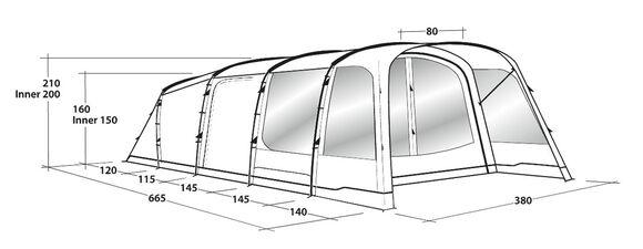 Greenwood 6, tunneltelt med tre rum