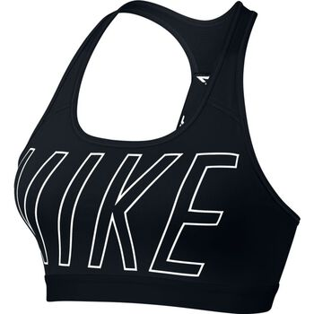 Nike Pro Classic Logo Read Bra Damer Sort