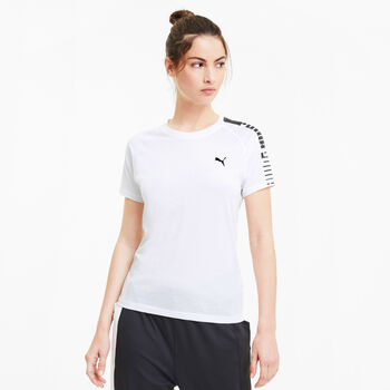 Puma Logo Raglan T-shirt Damer Hvid