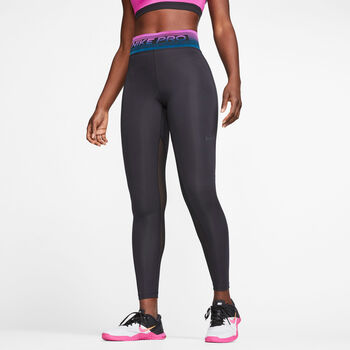 Nike Pro Printed Tights Damer Sort
