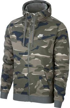 Nike M Nsw Club Camo Hoodie FZ FT Mænd