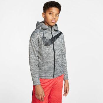 Nike Therma Full-Zip Hættetrøje Sort